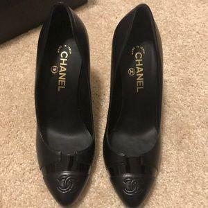 Authentic Chanel black pumps